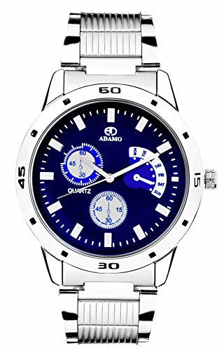 ADAMO Analogue Blue Dial Men's Watch- AD108
