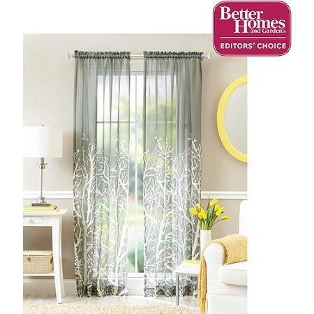 Better Homes and Gardens Arbor Springs Semi-sheer Window Panel by Better Homes & Gardens