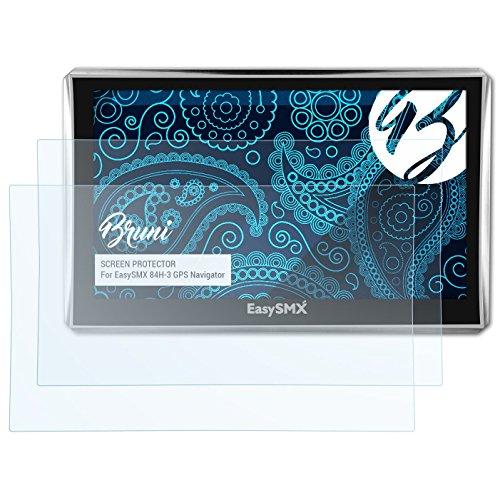 Bruni Protecteur d'écran pour EasySMX 84H-3 GPS Navigator Film Protecteur - 2 x cristal clair Film Protection d'écran