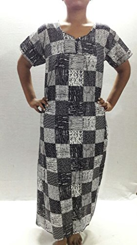 Jaipuri Print Woman Cotton Nighty, Nightdress(Free size)