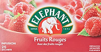 Elephant Infusion Fruits Rouges 25 Sachets 45g Lot de 4