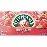 Elephant Infusion parfumée Fruits Rouges 25 sachets - Lot de 4