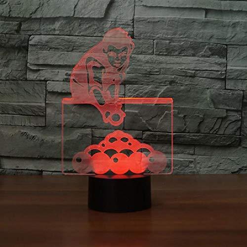 Billard Lampe Leuchte (3D Lampe Leuchte LED Stimmungslicht Billard-Spiel Nachtlicht Für Schlafzimmer Hochzeit Weihnachten Valentine Geburtstag Geschenk)