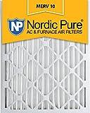 Nordic Pure 20x 24x 2Merv 10Plissee AC Ofen Air Filter, Box von 3 1 Pack
