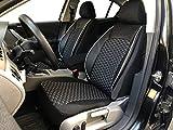Sitzbezüge K-Maniac für Opel Astra J | Universal schwarz-Weiss | Autositzbezüge Set Vordersitze | Autozubehör Innenraum | Auto Zubehör Kunstleder | V1506947 | Kfz Tuning | Sitzbezug | Sitzschoner