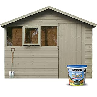 Ronseal 9L Fence Life Plus Garden Shed & Fence Paint UV Potection-All Colours 9L (Warm Stone)