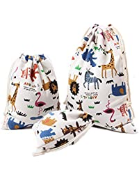 LAAT 3PCS,3 tamaños Bolso con cordón de Bolsos Diseño Animal con cordón Bolsa de Mochila Shopping Sport Yoga Deporte Moda Ocio Navidad