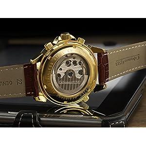 51LMbgbYzCL. SS300  - Calvaneo-1583-Astonia-Luxury-Oro-coac-automtico-reloj-calendario-komplikation