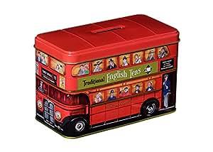 """Thé à l'anglaise, """"London Red Bus thé Tin"""" anglais traditionnel Afternoon Tea dans Emblématique de Londres Red Double Decker Bus Tirelire - HR10"""