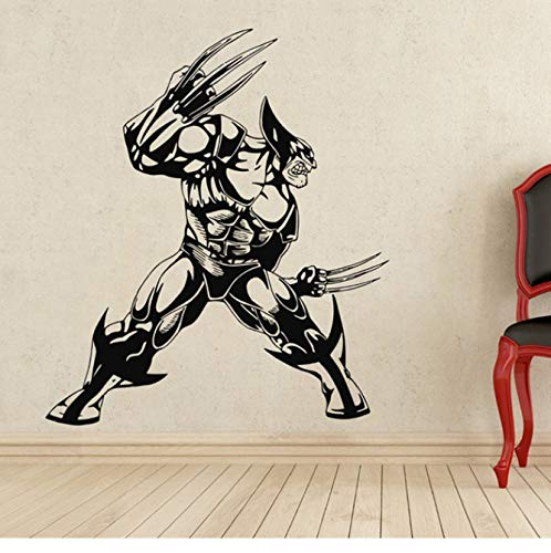 xingzhi DIY Tapete Wolverine Wandtattoo Superheld Vinyl Aufkleber Wanddekor Abnehmbare wasserdichte Aufkleber 78 * 90 cm (Wandtattoo Wolverine)