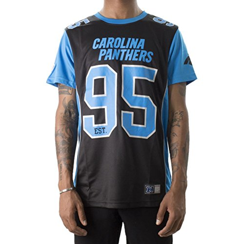Majestic Carolina Panthers T-Shirt/Tee - Poly Mesh - NFL 2019 - Black - XXL