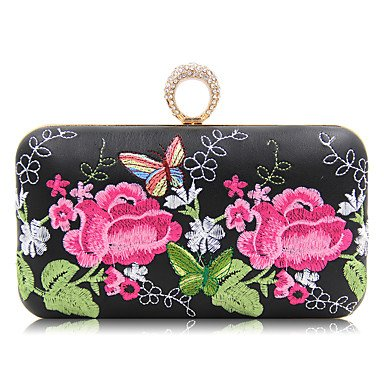 pwne L. In West Woman Fashion Luxus High-Grade Die Dreidimensionale Blumen Abend Tasche Black