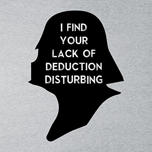 Star Wars Sherlock Vader Silhouette I Find Your Lack Men's Vest Heather Grey