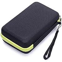 Vococal-Portable Travel EVA Shaver eléctrica Trimmer Storage Case Bag Box Organizador para Philips Norelco OneBlade QP2530 2520-Verde