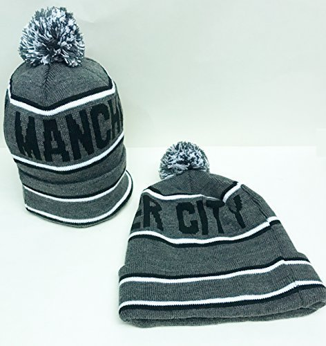 a606a3141b4 Manchester City Bobble Pom Pom Hat Grey