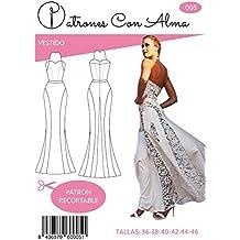 f1a123be5 Patron Vestido Fiesta Mujer Mod. Blanco Encaje (42)