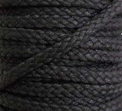 5 m Baumwollkordel 6 mm schwarz