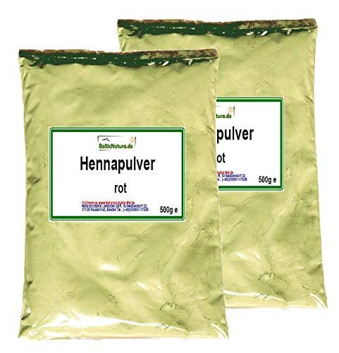 Pulver-haarfarben (Henna Pulver rot (2x 500 g) Hennapulver Haarfarbe natürliche Haarpflege 1000g 1kg)