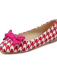 ZQ Zapatos de mujer-Tac¨®n Bajo-Tacones-Tacones-Casual-Vell¨®n-Negro / Azul / Rojo / Blanco / Bermell¨®n , blue-us6 / eu36 / uk4 / cn36 , blue-us6 / eu36 / uk4 / cn36