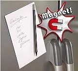 Magnetbleistift, schwarz; inkl. Metallplättchen, selbstklebend