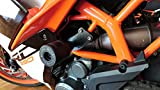 #10: Bikers Billet Frame Protectors (KTM RC 250/ 390) Black