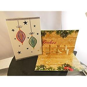 Pop Up Weihnachtskarte Frohes Fest Handmade