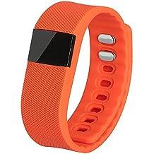 TW64 Bluetooth Smart muñeca reloj pulsera ejercicio corriendo pulseras deportes relojes celular Mate con podómetro actividad Tracker control anti-perdida sedentarios función de apagado para iPhone 5S 6 Plus HTC uno M8 Huawei Samsung Galaxy nota 5 naranja