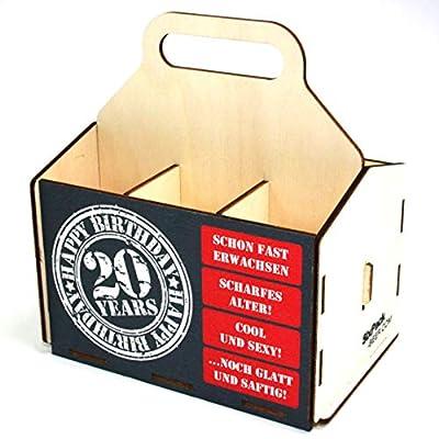 Bierträger aus Holz - Geburtstag - Sixpack - 6er Träger - Geschenke für Männer - Grillen - Vatertag