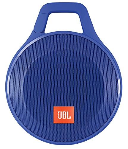 JBL Clip+ Wireless Bluetooth Lautsprecher (Tragbar, Robust, für Unterwegs Wasserabweisend mit Integriertem Karabinerhaken, Kompatibel mit Apple iOS/Android Smartphones/Tablets/MP3 Geräten) blau