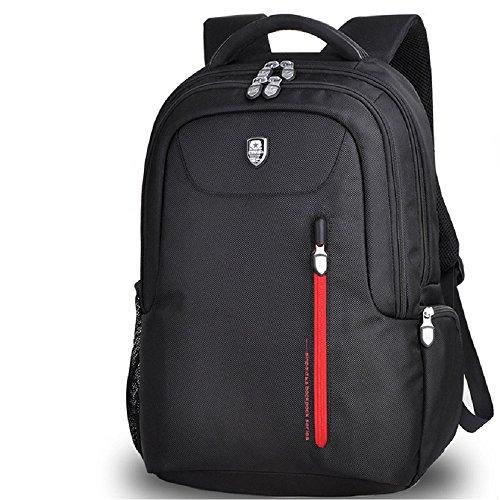 2df5016044235 SINPAID Unisex Rucksack Tasche Sports Rucksack Reisetasche Schultertasche  Schulrucksack Laptoptasche Hohe Qualität K06 (Schwarz-