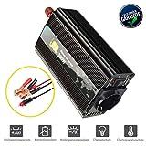CIDEARY 300W Wechselrichter 12V auf 230V Spannungswandler Stromwandler Inverter mit FCC Zertifiziert und USB Anschlüsse inkl Kfz Zigarettenanzünder Stecker(Schwarz, 300W Wechselrichter)