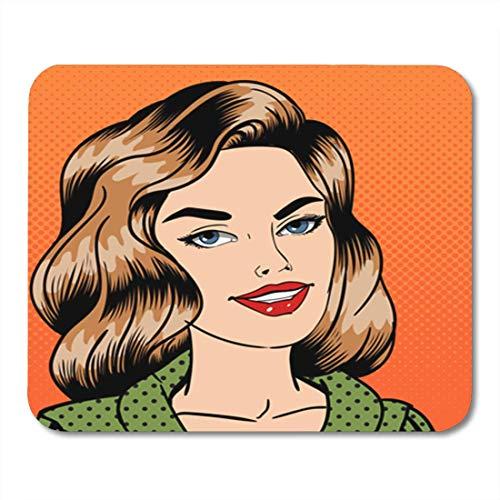 Pretty Woman Vasca Da Bagno.Hotning Tapis De Souris Adult Smiling Beautiful Woman Pop Attractive Beauty Cartoon Character 11 8 X 9 8 Decor Office Nonslip Rubber Backing Mousepad