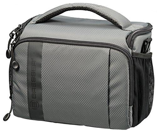 Bresser Kameratasche Adventure Toploader mit Regenschutz und sieben Zusatzfächern aus High End Rip-Stop Gewebe, groß