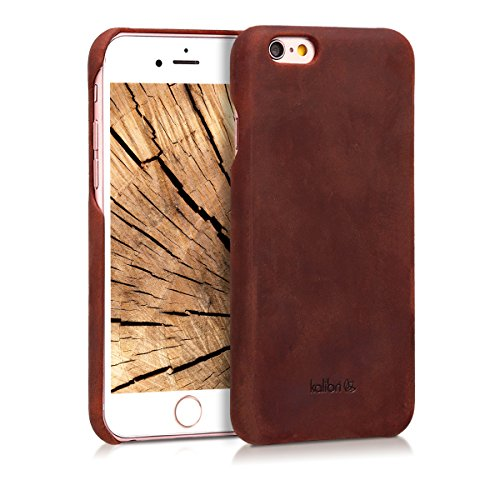 kalibri-Echtleder-Backcover-Hlle-fr-Apple-iPhone-6-6S-Leder-Case-Cover-Schutzhlle-in-Bordeaux