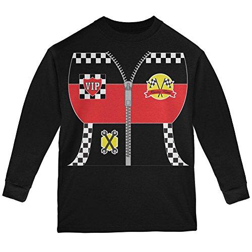 Halloween-Hot Rod Kostüm Racing Jugend Langarm T-Shirt schwarz (Rod Kostüme Hot)