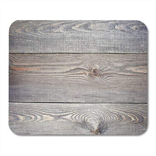 Rustikale Holz-tabellen (Luancrop Mauspad grau Holz Vintage Holz braun Tabelle rustikales Brett Leere Mousepad für Notebooks, Desktop-Computer-Mauspads, Büromaterial)