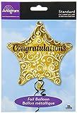 Burton & Burton Congratulations Gold Star Foil/Mylar Balloon