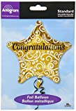 Amscan 3263501 Congratulations Sophisticated Star Foil Balloon
