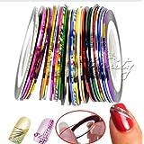 Brovy (TM) 2015nueva 10pcs Mixed Colors Nail Rolls Striping Línea de cinta DIY Decoración de Uñas adhesivo clavos Care C10