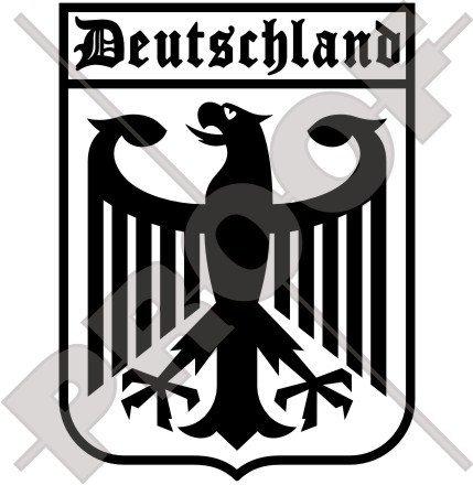 Allemagne aigle allemand, Deutschland 162,6 cm (160 mm) en vinyle Bumper Sticker, autocollant - Choix de 22 couleurs