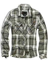 Brandit Hombres Check Camisa Oliva tamaño L