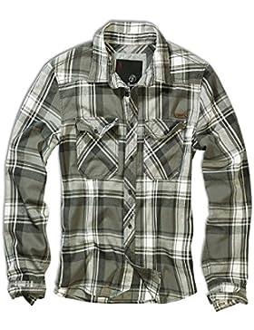 Brandit Uomo Check Camicia Oliva taglia S