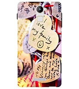 Chiraiyaa Designer Printed Premium Back Cover Case for Coolpad Note 3 Lite (heart family) (Multicolor)