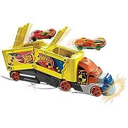 Hot Wheels Camion Crash transporteur pour carambolages de voitures, jouet pour enfant, GCK39