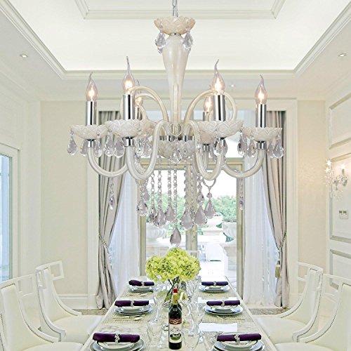 lampada di cristallo di vetro salotto raffinato ed elegante ristorante 6 camere da letto di cristallo lampadario di cristallo Lampadario