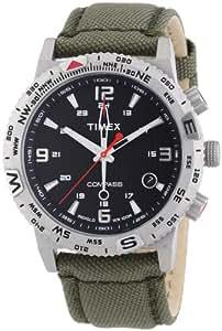 Timex Herren-Armbanduhr XL Adventure Series Compass Analog Quarz Nylon T2P286