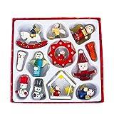 MAYOGO Weihnachten Mini Deko Anhänger Set,Dekoration Weihnachten Baum Klein Hängende Verzierung Anzug
