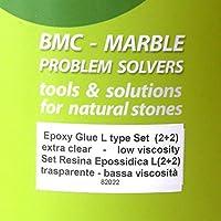 Pegamento transparente para mármol y granito - Tipo L Baja viscosidad – 2+2 tubos de dosis única