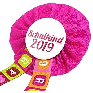 AnneSvea Orden Schulkind 2021 pink Set mit Poster und Stundenplan Einschulung Schultüte Zuckertüte Deko Geschenk…