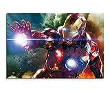 Avengers Iron Man Wandbild 120x80cm XXL Bilder und Kunstdrucke auf Leinwand